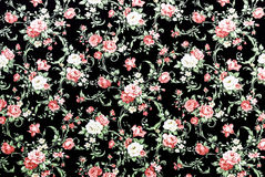 Red Rose Fabric Background, Fragment of colorful retro tapestry Royalty Free Stock Photography