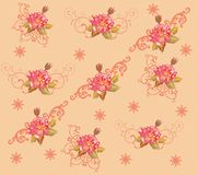 Red rose flower background illustration Stock Photo