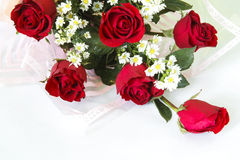 Red rose flower bouquet Stock Photo
