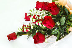 Red rose flower bouquet Stock Photography