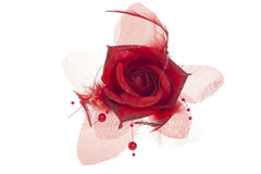 Red rose flower brooch Royalty Free Stock Photo
