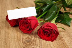 Red rose flower on wood Royalty Free Stock Image