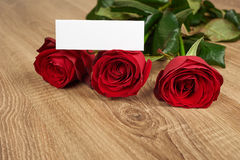 Red rose flower on wood Royalty Free Stock Photos