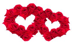 Red  rose in form heart Royalty Free Stock Images