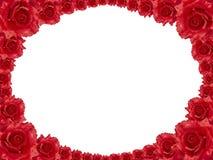 Red rose frame Royalty Free Stock Image