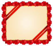 Red rose frame Stock Images