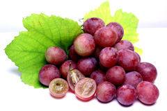 Red rose grapes isolated