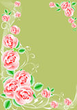 Red rose on green background Royalty Free Stock Images