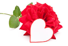 Red rose and heart Royalty Free Stock Photos