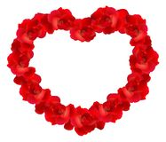 Red rose heart Royalty Free Stock Photo