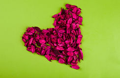 Red Rose heart. Heart made of red rose petals Stock Photo