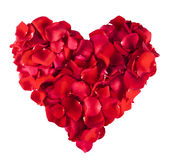 Red Rose heart. Isolated on white background Royalty Free Stock Images