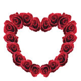 Red rose heart Stock Photography