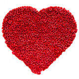 Red rose heart shape Royalty Free Stock Photos