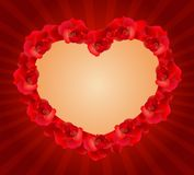 Red rose hearts Stock Image