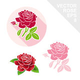 Red rose vector icon. Red rose vector icon isolated Stock Illustration