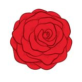 Red rose isolated in graphic style Stock Photography