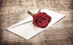 Red Rose and Letter Royalty Free Stock Image