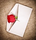Red Rose and Letter Stock Photos