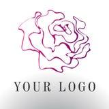 Red rose logo - vector illustration, emblem design on white background. Vector elegant logo rose. Abstract emblem, design concept, logo, logotype element for Stock Image