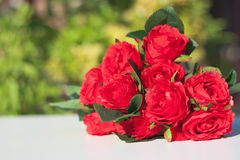 Red rose for love. Red rose bouquet to show someone for love and concept for something that specially Stock Image