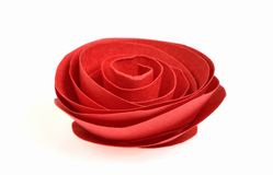 Red rose. Made from paper art stock image
