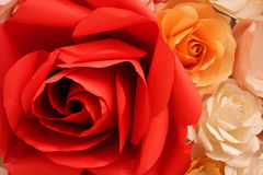 Red Rose Made of Paper Royalty Free Stock Photography