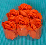 Red rose from natural soap Stock Image
