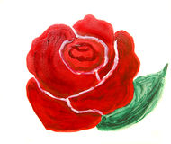 Red rose, oil painting Stock Photography