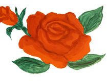 Red rose, painting Royalty Free Stock Photos