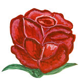 Red rose, painting Royalty Free Stock Image