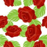 Red rose pattern. A beautiful seamless background with roses Stock Images