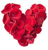 Red rose petal heart Royalty Free Stock Photo