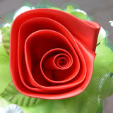 Red rose and Petal Royalty Free Stock Image