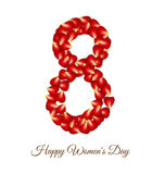 Red Rose Petals for international women day card Stock Images