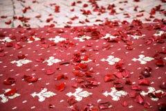 Petals on Carpet Royalty Free Stock Photo