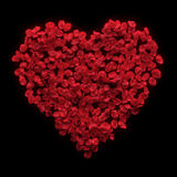 Red rose petals valentine background Royalty Free Stock Photos
