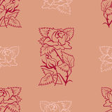 Red rose. On pink background Royalty Free Stock Photos