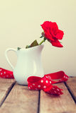 Red rose with ribbon Stock Images
