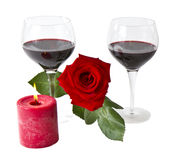 Red Rose Romance Stock Photos