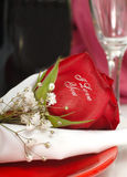 Red Rose that says I Love You Stock Photography