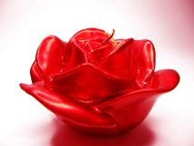 Red rose scented aroma candle Royalty Free Stock Images