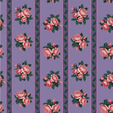 Red rose seamless background Royalty Free Stock Images