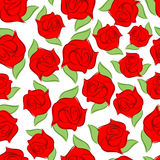 Red rose seamless pattern. Texture flower. Floral background Stock Photography