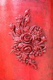 Red rose on stone wall Royalty Free Stock Photos
