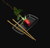 Red rose sushi Stock Image