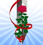 red rose and sword Stock Photography
