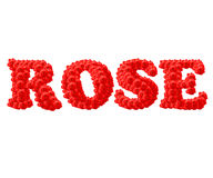 The Red Rose text Royalty Free Stock Photo