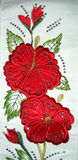 Red rose towel Stock Image