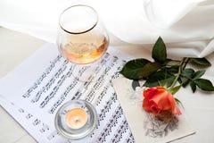 Red rose and Vivaldi Stock Photo